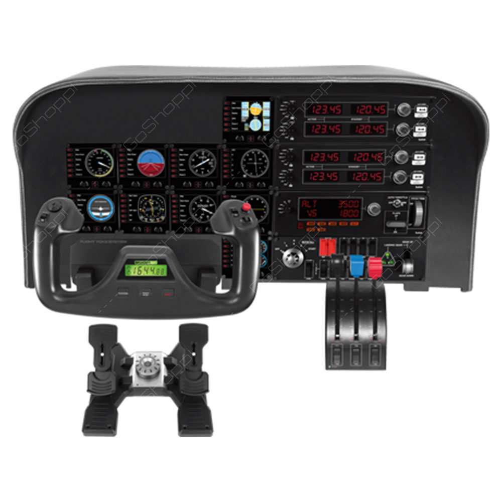 Logitech  Flight Yoke System - Professional Simulation Yoke And Throttle Quadrant