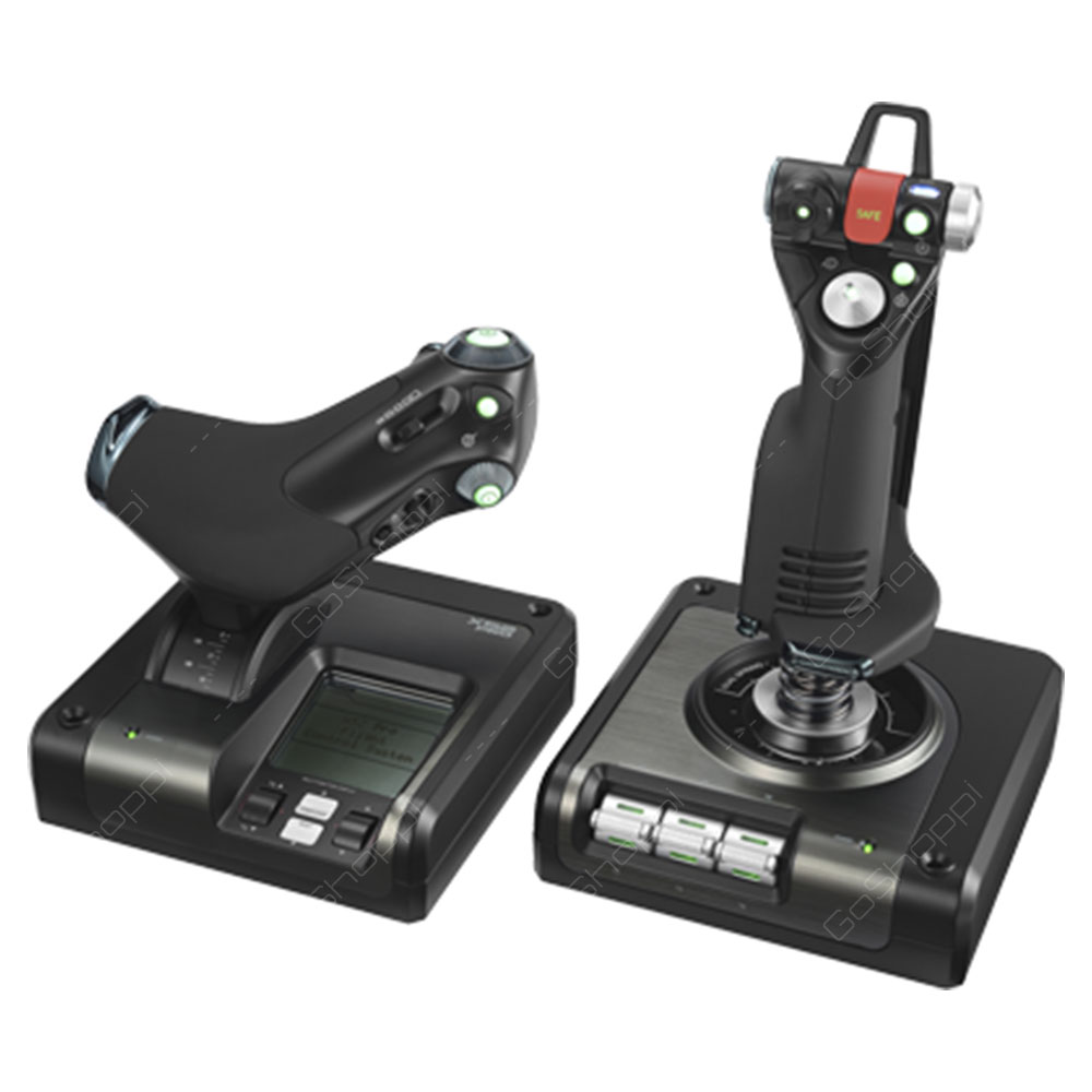 Logitech Space G Saitek X52 Professional H.O.T.A.S - Part Metal Throttle And Stick Simulation Controller
